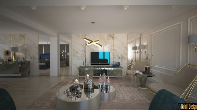 Interior design for modern luxury apartment in London
